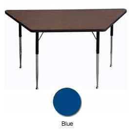 "Activity Table, 30"" X 30"" X 60"", Trapezoid, ADA Compliant Adj. Height, Blue - Pkg Qty 2"