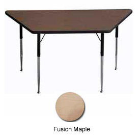 "Activity Table, 30"" x 30"" x 60"", Trapezoid, Standard Adj. Height, Fusion Maple"