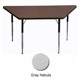 "Activity Table - Trapezoid - 30"" X 30"" X 60"", Standard Adj. Height, Gray Nebula"