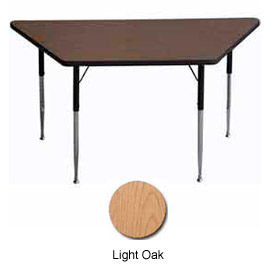 "Activity Table - Trapezoid - 30"" X 30"" X 60"", Juvenile Adj. Height, Light Oak"
