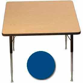"Activity Table, 36"" X 36"", Square, Standard Adj. Height, Blue - Pkg Qty 2"