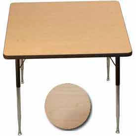 "Activity Table - Square - 36"" X 36"", Juvenile Adj. Height, Fusion Maple"