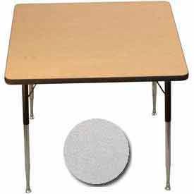 "Activity Table - Square - 36"" X 36"", Standard Adj. Height, Gray Nebula"
