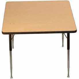 """Activity Table - Square - 36"""" X 36"""", Juvenile Adj. Height, Light Oak"""