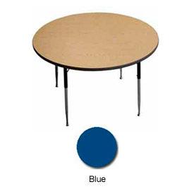 "Activity Table, 36"" Diameter, Round, Standard Adj. Height, Blue - Pkg Qty 2"