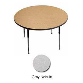 """ADA Activity Table - Round - 36"""" Diameter, Adj. Height, Gray Nebula"""