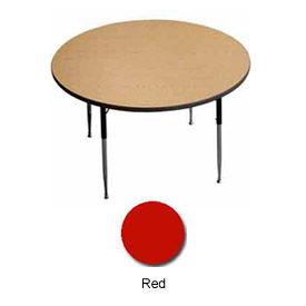 "Activity Table, 36"" Diameter, Round, Juvenile Adj. Height, Red - Pkg Qty 2"