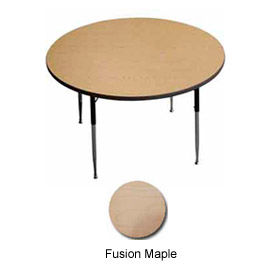 "Activity Table, 42"" Diameter, Round, ADA Compliant Adj. Height, Fusion Maple - Pkg Qty 2"