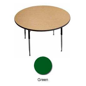 "Activity Table, 42"" Diameter, Round, Juvenile Adj. Height, Green - Pkg Qty 2"