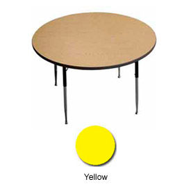 "Activity Table, 42"" Diameter, Round, Juvenile Adj. Height, Yellow - Pkg Qty 2"