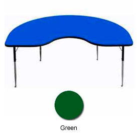 "Activity Table, 48"" x 72"", Kidney, ADA Compliant Adj. Height, Green"