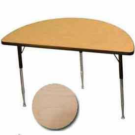 "Activity Table - Half-Round - 24"" X 48"", Standard Adj. Height, Fusion Maple"