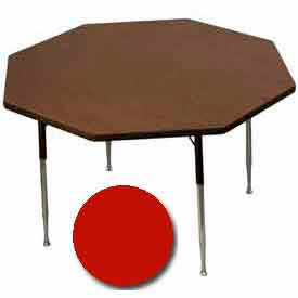 "Activity Table, 48"" Diameter, Octagon, ADA Compliant Adj. Height, Red"