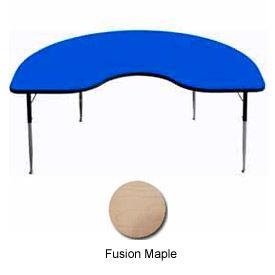 """Activity Table, 48"""" x 96"""", Kidney, Standard Adj. Height, Fusion Maple"""