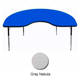 "Activity Table, 48"" x 96"", Kidney, Standard Adj. Height, Gray Nebula"