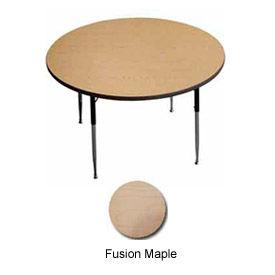 "ADA Activity Table -  60"" Diameter,  Adj. Height, Fusion Maple"