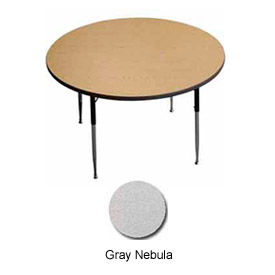 "Activity Table - Round -  60"" Diameter, Standard Adj. Height, Gray Nebula"