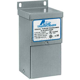 Acme TF279267S Export Model, 1 Ø, 50/60 Hz, 190/208/220/240 X 380/416/440/480 Primary V, 25 W