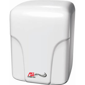 "ASI® Porcelain Turbo Hand Dryer - 8-1/16""W - 0197-1"