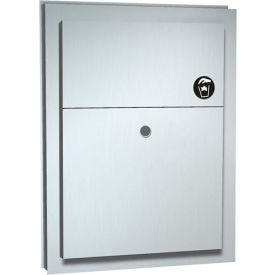 ASI® Partition Mounted Dual Access Napkin Disposal - 0472