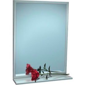 """ASI® Fixed Angle Tilt Mirror with Shelf - 16""""Wx30""""H - 0537-1630"""