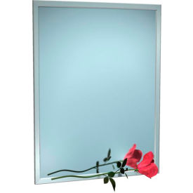 """ASI® Stainless Steel Angle Frame Mirror - 18""""Wx36""""H - 0600-1836"""