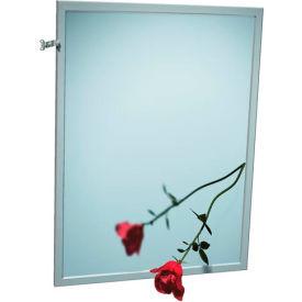 "ASI® Adjustable Tilt Stainless Steel Frame Mirror - 18""Wx36""H - 0600-T1836"