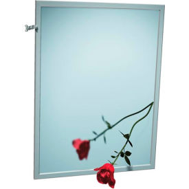 "ASI® Adjustable Tilt Stainless Steel Frame Mirror - 24""Wx36""H - 0600-T2436"