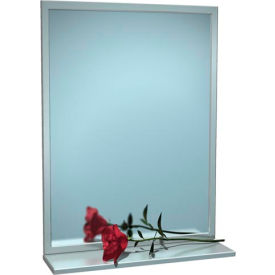 """ASI® Stainless Steel Angle Frame Mirror with Shelf - 72""""Wx36""""H - 0605-7236"""