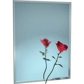 """ASI® Stainless Steel Channel Frame Mirror - 18""""Wx24""""H - 0620-1824"""