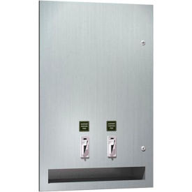 ASI® Surface Mounted Tampon and Napkin Dispenser - 0864-F