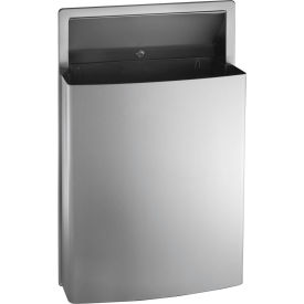 Garbage can recycling steel indoor roval semi - Commercial bathroom waste receptacles ...