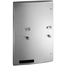 ASI® Roval™ Surface Mounted Dual Sanitary Dispenser 25 Cent Operation - 204684-9-25