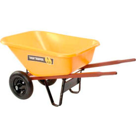 Ames RP810 8 Cubic Foot Poly Wheelbarrow With Dual Wheels