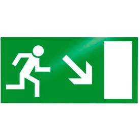 "Photoluminescent ""Man Right Down"" Peel-And-Stick Self-Adhesive Sign"