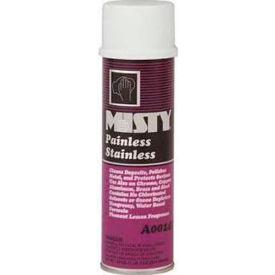 Misty® Water Based Stainless Steel Cleaner Lemon Scent, 18 Oz. Aerosol 12/Case - AEPA14220