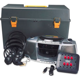 Personal CD/Cassette/AM/FM Station Listening center - 6 Headphone Jacks