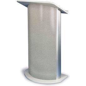 Gray Granite Contemporary Curved Podium / Lectern