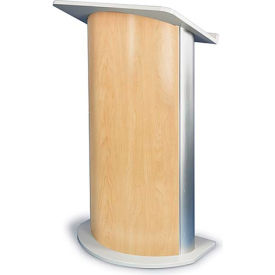 Hardrock Maple Contemporary Curved Podium / Lectern