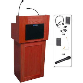 Oxford UHF Wireless 2 Piece Podium / Lectern - Mahogany