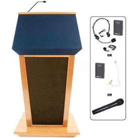 Patriot UHF Wireless Podium / Lectern - Maple