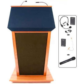 Patriot Plus UHF Wireless Podium / Lectern - Cherry