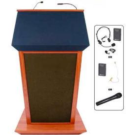 Patriot Plus UHF Wireless Podium / Lectern - Mahogany