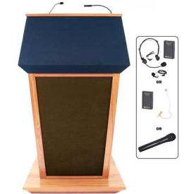 Patriot Plus UHF Wireless Podium / Lectern - Maple
