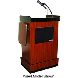 Wireless Multimedia Computer Lectern - Mahogany