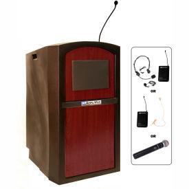 Wireless Pinnacle Full Height Podium / Lectern Mahogany