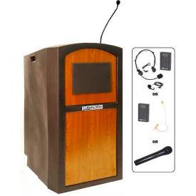 Wireless Pinnacle Full Height Podium / Lectern Medium Oak