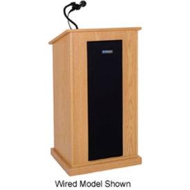 Wireless Chancellor Sound Podium / Lectern - Oak