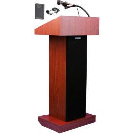 Wireless Executive Sound Column Podium / Lectern- Mahogany