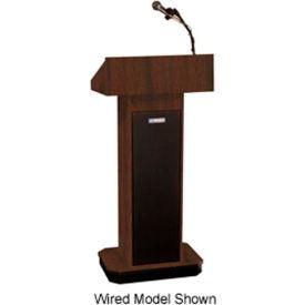 Wireless Executive Adjustable Height Podium / Lectern - Walnut